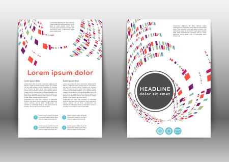 Abstract colored brochure template with geometric elements  일러스트