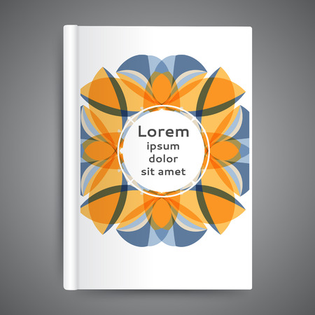 Color book design with abstract floral background