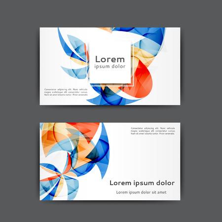 plantilla de tarjeta de visita de color con líneas abstractas y ondas Ilustración de vector