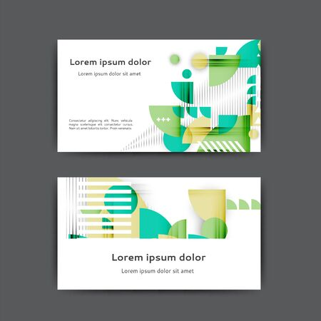 Business card design with abstract geometric elements