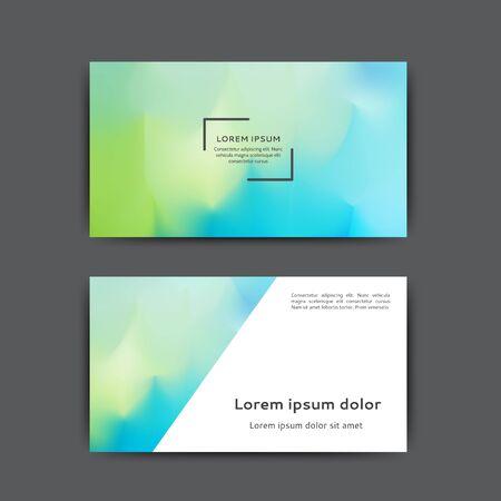 Business card design with abstract blurred background Ilustração