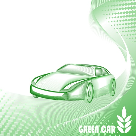 Environmentally safe green car Vector