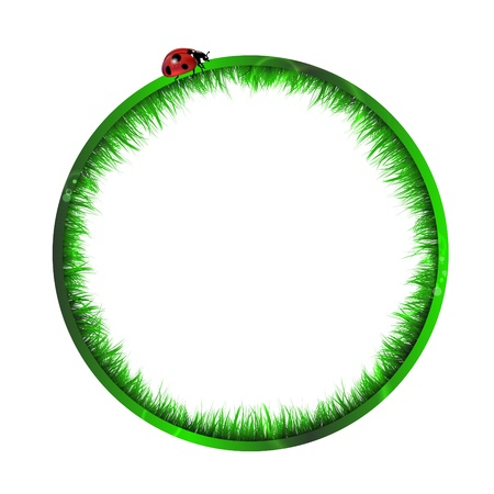 Circle With Grass Inside Stock Vector - 15829178