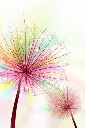 Rainbow Dandelions Vector