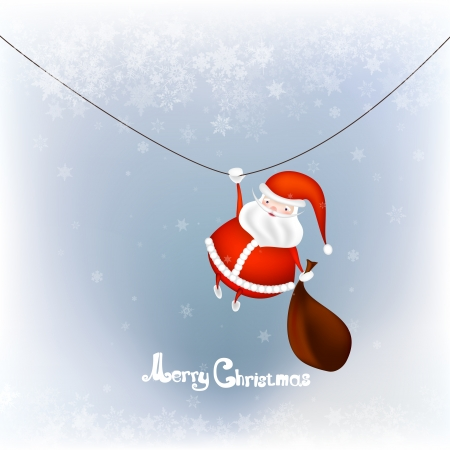bagful: Santa with Bag Full of Gifts Illustration
