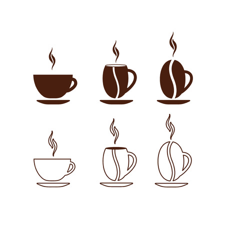 coffee cup vector: Vector Concept Coffee Cup