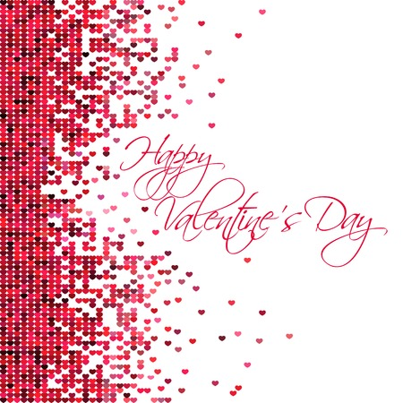 Abstract vector background with hearts Vector