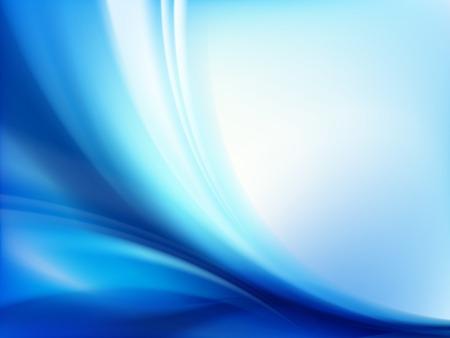 Abstract blue wavy background Ilustração