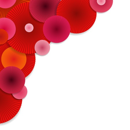 Abstract Background with Red and Pink Circles. Bright Vector Circles.