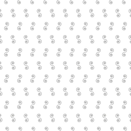 continuity: Seamless Pattern with Spiral Curls. Vector Repeating Texture. Illustration