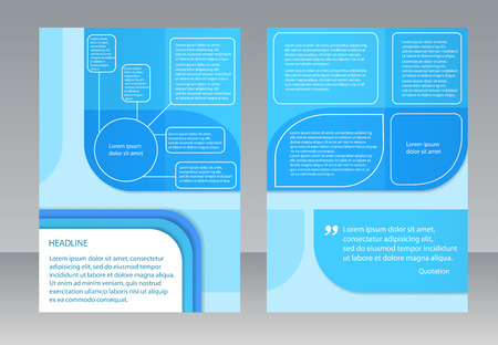 proportion: Vector Brochure Flyer design. Template in A4 size Illustration