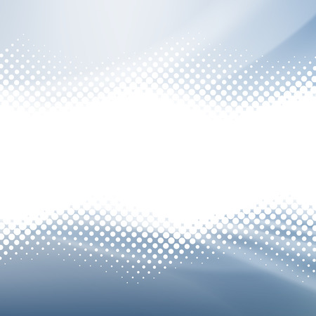 Abstract Background. White Halftone on the Blue Background. 矢量图像