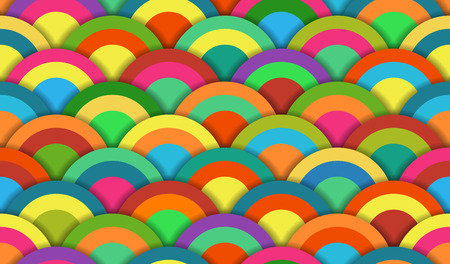 Bright Colored Circle Seamless Pattern for backgrounds Illustration