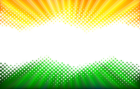 Abstract Background. White Halftone on the Orange Green Background.
