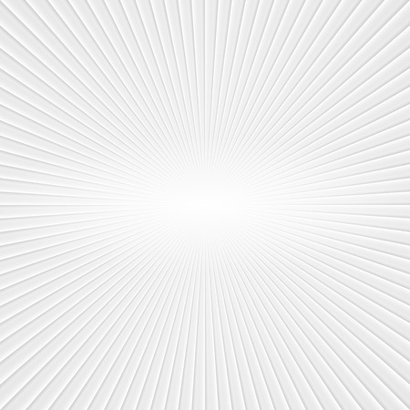 on a white background: 3D White Rays. Abstract Vector Background