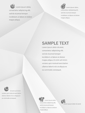 straight edge: Texture of crumpled paper. Vector illustration. Can be used as template for infographic Illustration