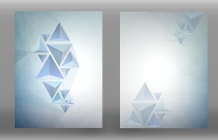 Abstract Triangle Polygon Brochure Flyer Design. Vector Template