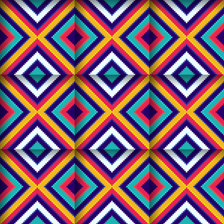 Bright Colored Seamless Pattern with Squares for Backgrounds 向量圖像