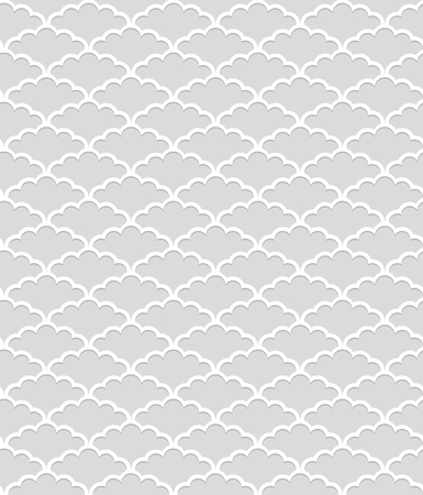 monochromatic: Seamless pattern with Shadow Effect. Vector background Illustration