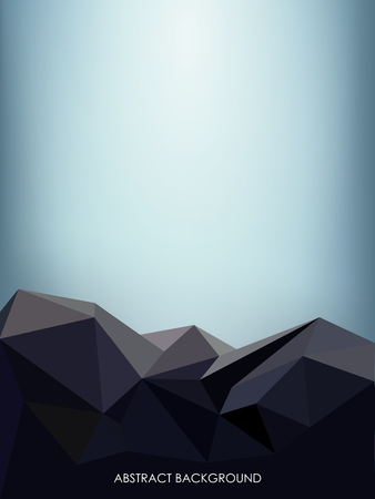 Abstract Background with Triangle. Stone Surface Made from Poligons