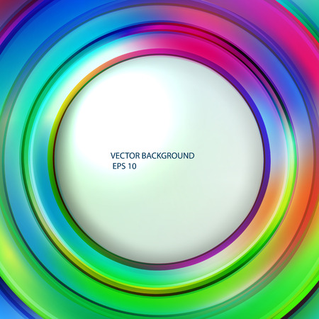 Abstract Colorful Background. Bright Circles.