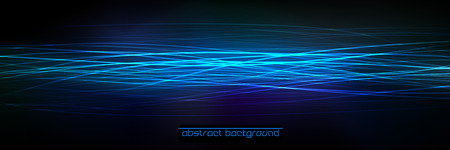 neon light: Abstract  Background. Shiny Lines on the Dark Background