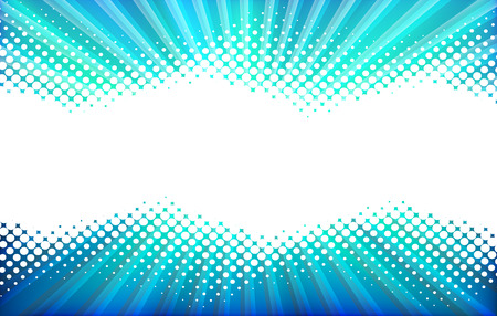 Abstract Background. White Halftone on  Blue Background.