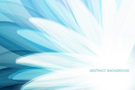 Abstract Background wiht Blue Flower and Place for Your Text Illustration