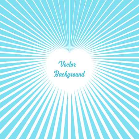 Heart Made of Rays. Vector Illustration Ilustração