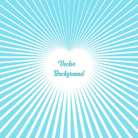 Heart Made of Rays. Vector Illustration Illustration