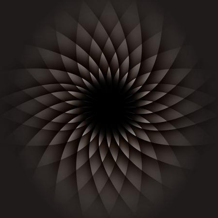 Dark Geometric Flower. Abstract Background