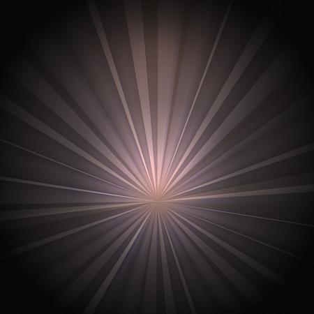 Vintage Background. Rays on Dark Background 矢量图像