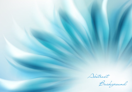 Abstract Background wiht Blue Flower and Place for Your Text Ilustração