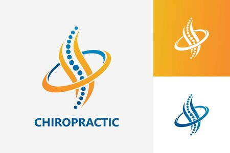 Chiropractic Logo Template Design Vector, Emblem, Design Concept, Creative Symbol, Icon Logo