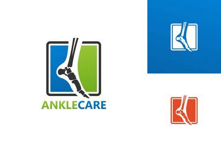Ankle Care Logo Template Design Vector, Emblem, Design Concept, Creative Symbol, Icon