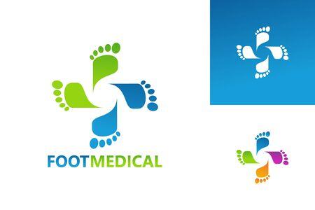 Foot Medical Logo Template Design Vector, Emblem, Design Concept, Creative Symbol, Icon Çizim