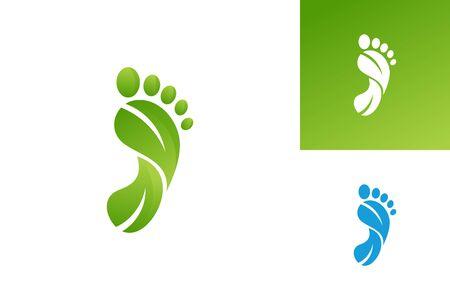 Foot Nature Logo Template Design Vector, Emblem, Design Concept, Creative Symbol, Icon Çizim