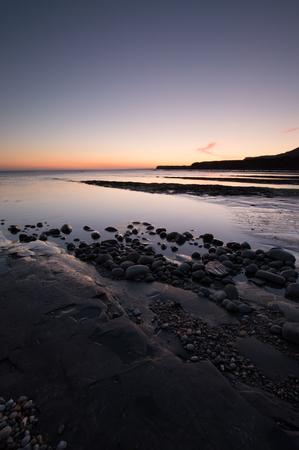 kimmeridge: Kimmeridge Bay at Sunset , on the dorset coast, England, UK