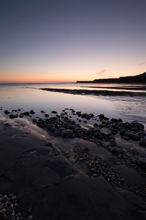 Kimmeridge Bay at Sunset , on the dorset coast, England, UK