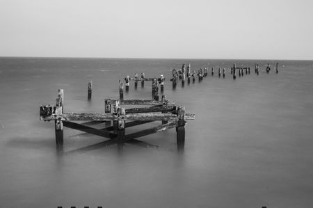 dorset: The old pier at Swanage, Dorset Stock Photo