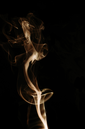 snake bite: Capturing the smoke from an incense stick and changing the colours