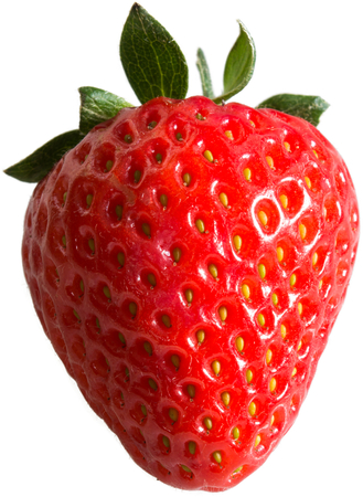 wimbledon: Strawberry - a single strawberry with no background