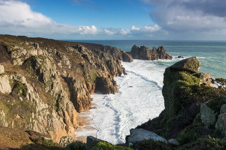 The cliffs at St Just, near Penzance, west Cornwall