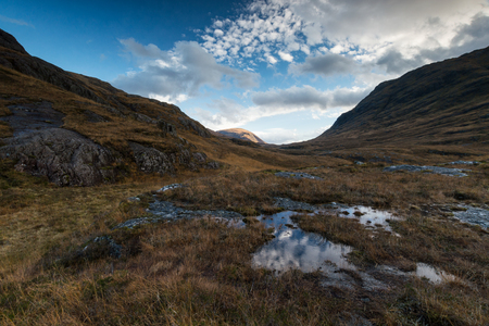 View from next to the Three Sisters Mountains at Kinlochleven, Highlands, Scotland