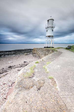 Black Nore Lighthouse, Portishead, England, on the River Severn Reklamní fotografie