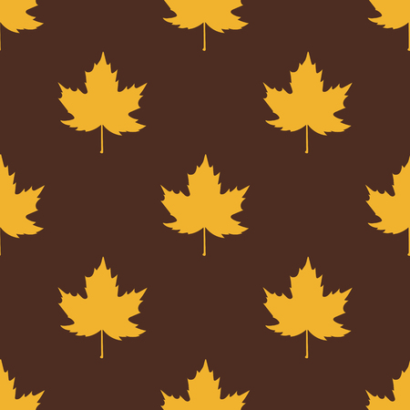 maples: Yellow maples on brown background. Illustration