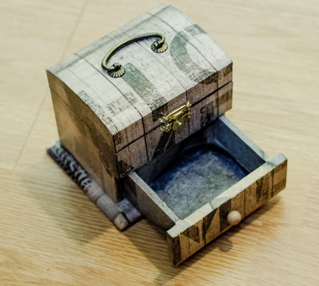 hand made: wooden Decoupage box by hand made