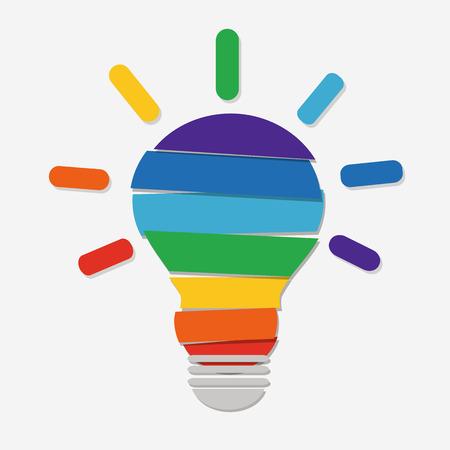 lightbulb idea: Creative idea