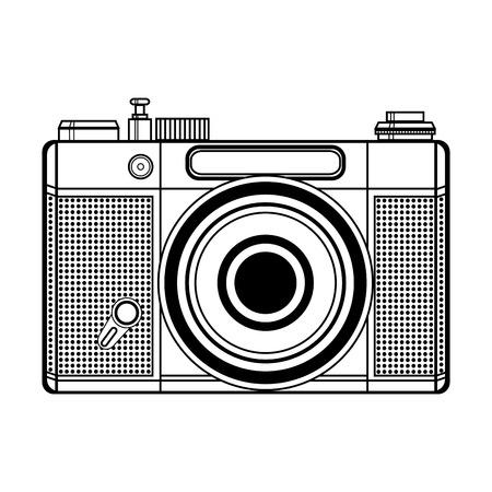 art logo: Vector retro camera