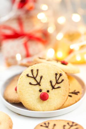 Homemade cookies reindeer cookies Stock Photo